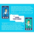Mobile communication presentation vector image
