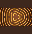 neon orange lighting lines vector image