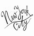 new york city hand drawn typography poster vector image