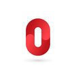 Number 0 logo icon design template elements