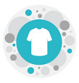 of shopping symbol on t-shirt vector image