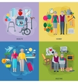 Pensioners Life Concept Icons Set vector image