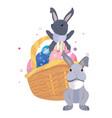 rabbit happy easter vector image vector image
