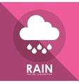 rain icon design vector image vector image