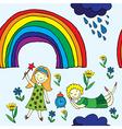 rainbow garden vector image
