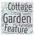 rustic garden furniture Word Cloud Concept vector image vector image
