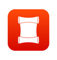 scroll icon digital red vector image vector image