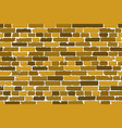 seamless texture of realistic old brick wall with vector image vector image