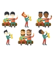 set of musicians characters vector image vector image