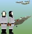 Soviet pilots of the Second World War vector image vector image