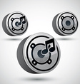 Speaker icon isolated 3d music theme design vector image vector image