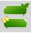 spring speech bubble vector image vector image