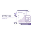 statistics analysis results document concept vector image vector image