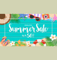 summer sale background season vacation weekend vector image vector image