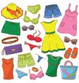 summer womenwear vector image