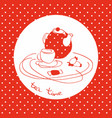 tea serving logo vector image vector image