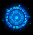 technological communication glowing modern vector image vector image