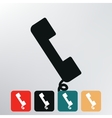 telephone handset icon vector image