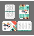 template design pocket calendar 2017 Colorful vector image