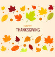 thanksgiving background autumn leaves vector image vector image