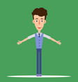 the boy with arms apart of flat style vector image