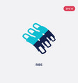 two color ribs icon from food concept isolated vector image vector image