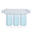 water filter three modules cleaning vector image vector image