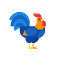 flat style of rooster vector image
