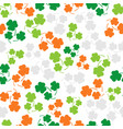 seamless pattern with three leaf color clover vector image