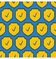 Seamless square pattern - security shield vector image