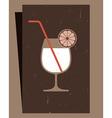 Cocktails Menu Card Design vector image