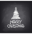 Hand drawn Merry Christmas text with stylized tree vector image