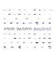 Set of hand drawndoodle sketched grunge brushes vector image