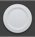 modern dish plate on white background vector image