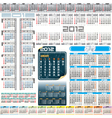 2012 year calendar grids vector image
