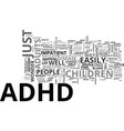 adhd children text word cloud concept vector image vector image
