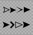 arrow icons or vector image vector image