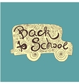 Back to School hand lettering vector image vector image