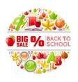 back to school sale icon vector image vector image