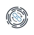 backlinks line glyph icon vector image vector image