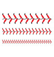 baseball red lace seam thread base ball vector image vector image