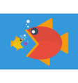 Big fish eat little fish Flat style vector image vector image