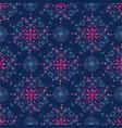 blue mandala floral pattern on blue background vector image vector image