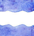 Blue watercolor paint background vector image vector image