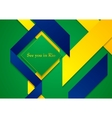 bright background in Brazilian colors vector image vector image
