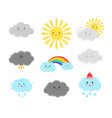 cartoon clouds characters vector image
