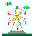 childrens ferris wheel vector image vector image