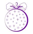 christmastree glass ball pictogram vector image vector image