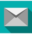 Closed white envelope icon flat style vector image vector image
