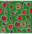 Colored garden pattern vector image